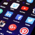 Social Media Accounts on phone screen