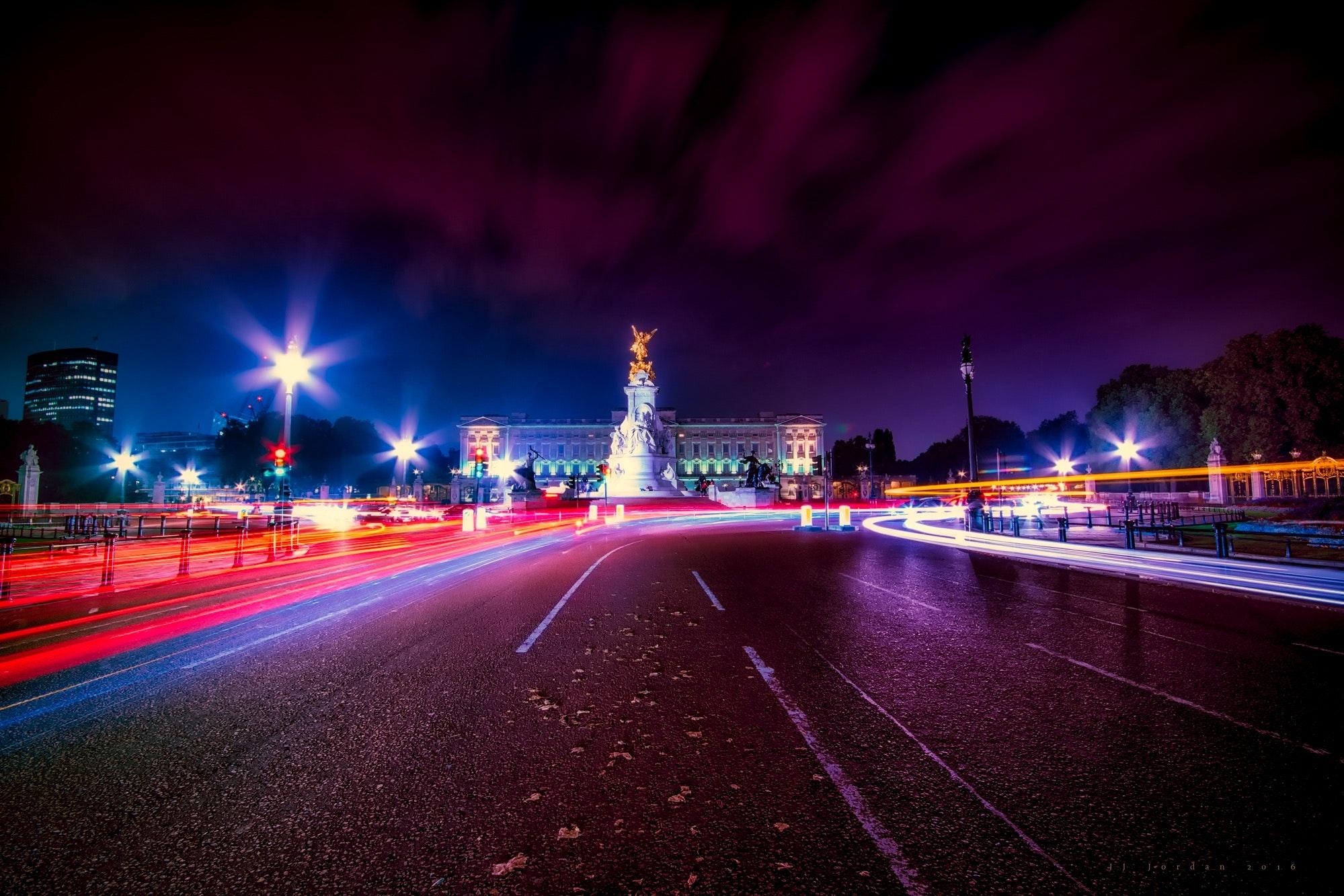 Roads at night