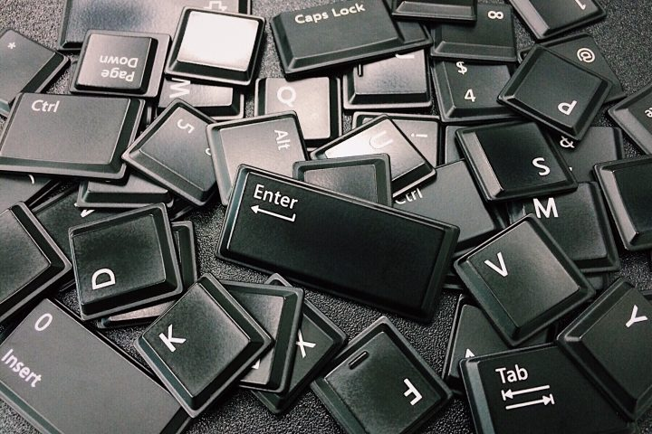 Jumbled keyboard letters