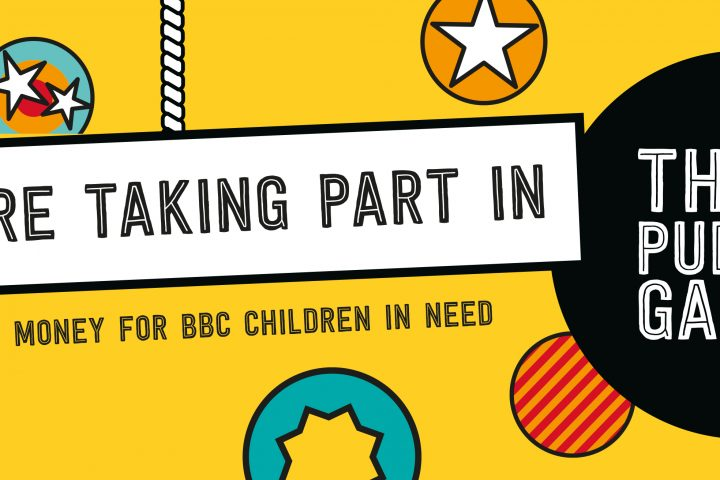Children in Need advert banner