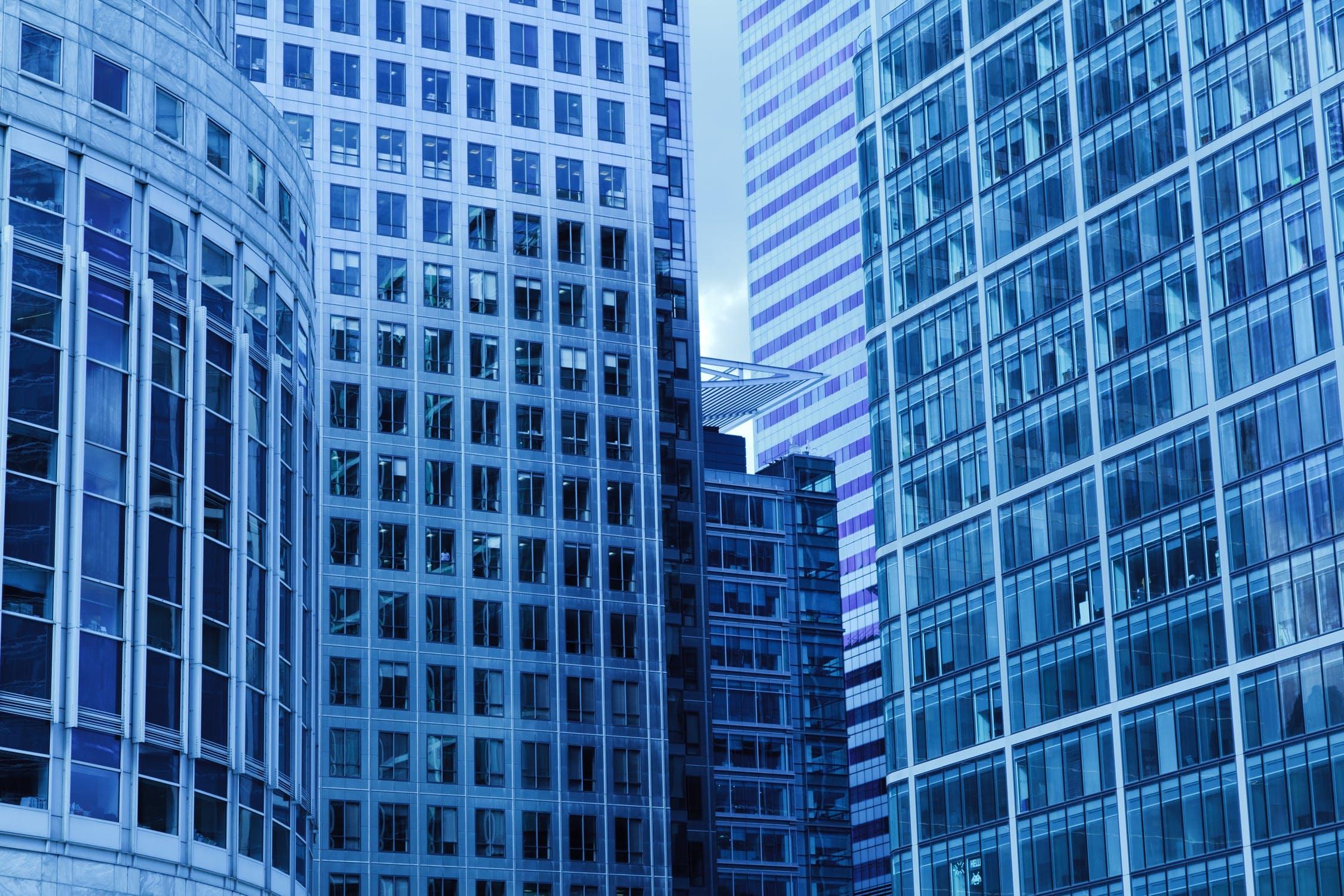 Tall office blocks in city