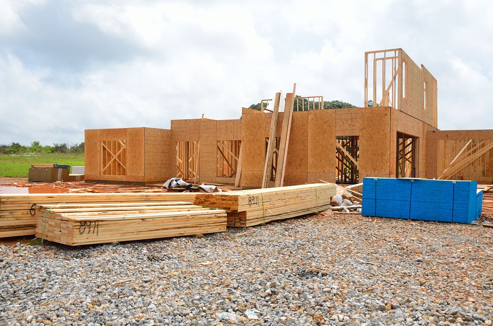 new houses in the process of being built