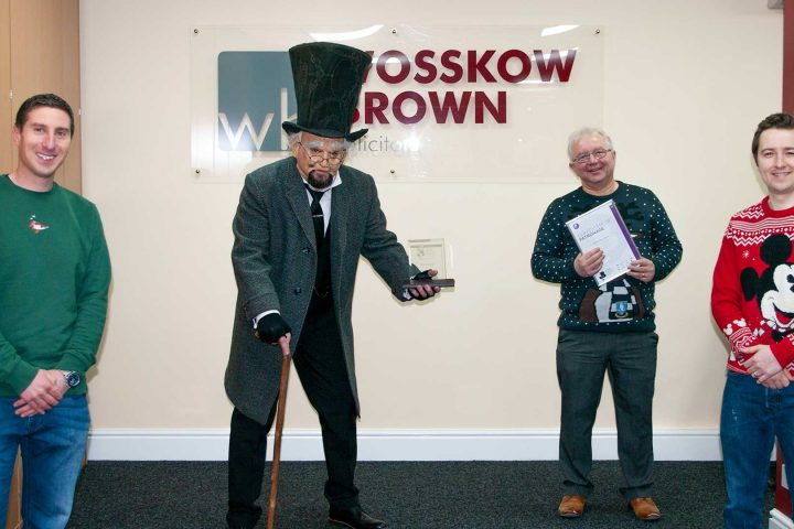 Wosskow Brown Partners receive Patron plaque from Sheffield Chamber